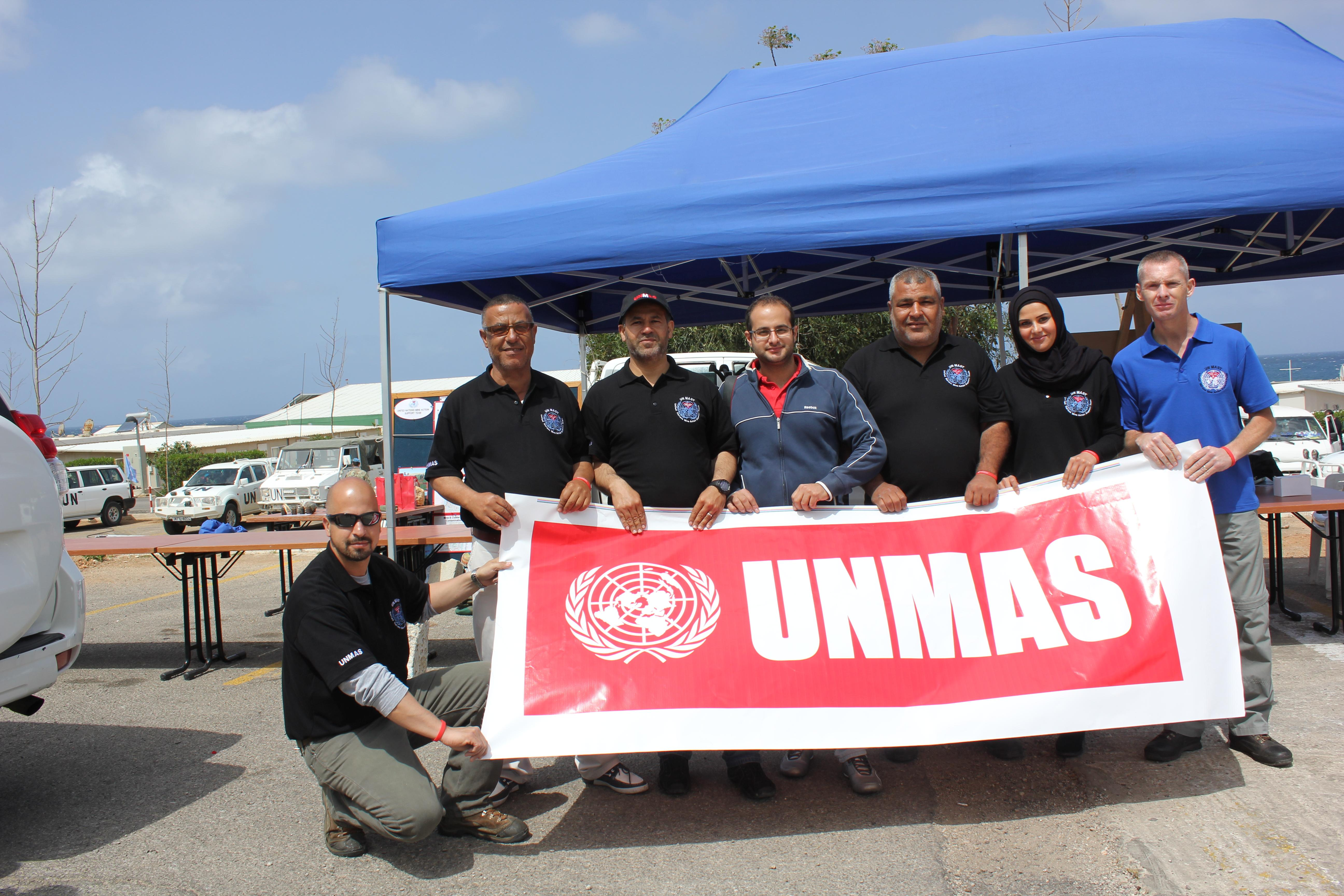 UNMAST Team during the Mine Awareness Day on 4th April 2013